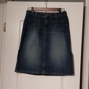 """Abercrombie & Fitch 22.5"""" Jean Skirt"""